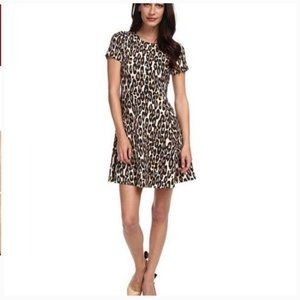 Kate Spade Autumn Leopard Flared Dress 4 nwot
